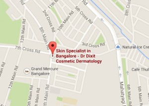 Google map location of Dr.Rasya Dixit Cosmetic Dermatology
